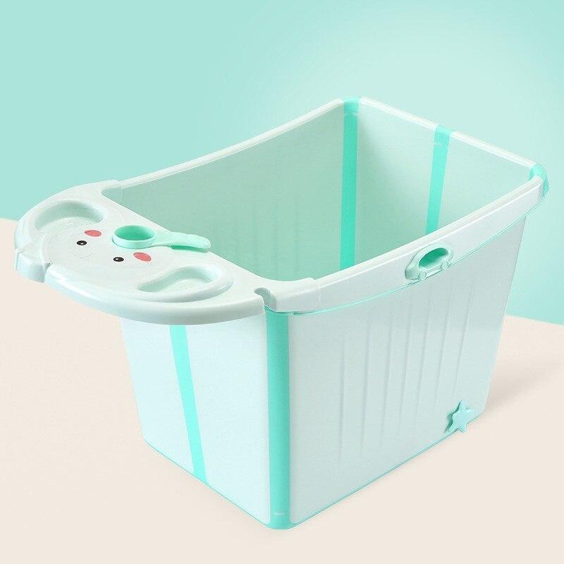 Grande taille épaisse pliable bébé baignoire enfants enfant bain baril avec siège peut s'asseoir piscine pour 0-12 ans