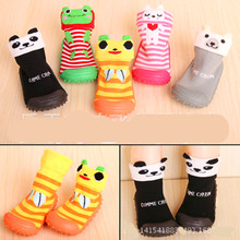Baby Socks With Rubber Soles Soft Bottom Non-Slip Rubber Footwear Dimensional Cartoon Baby Toddler Shoes Home Floor Socks Ws934