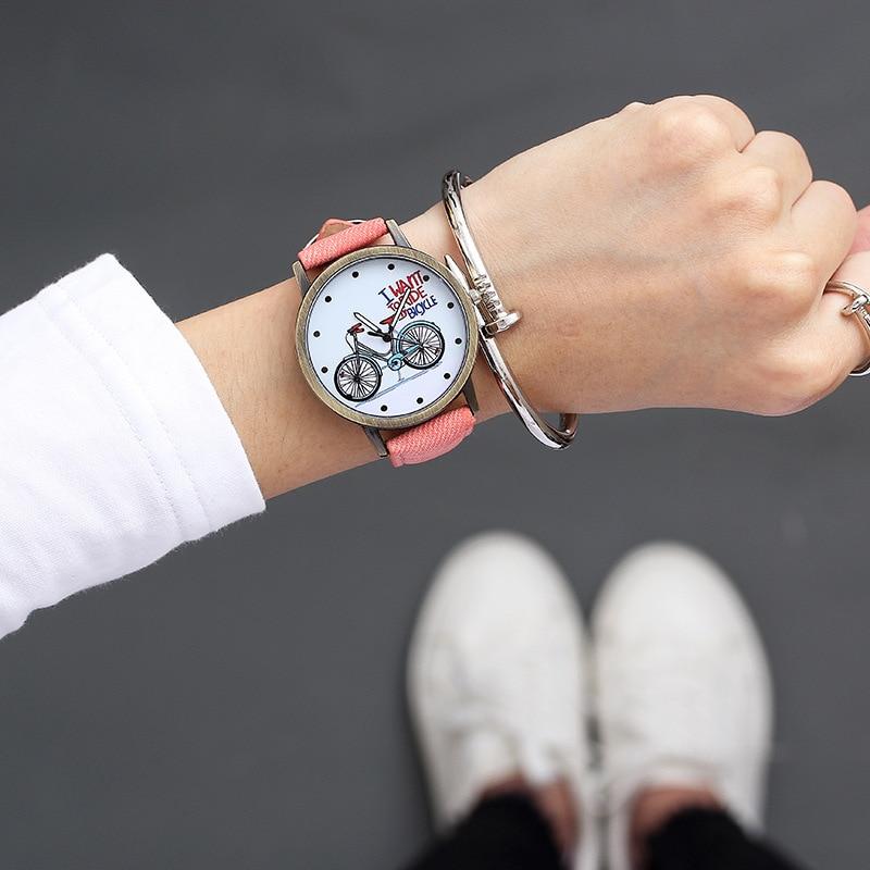 Hot Sale Women Bracelet Watch Female Quartz Women Watches Fashion Clock Ladies Watch Waterproof Vintage Watch For Girls Bicycle