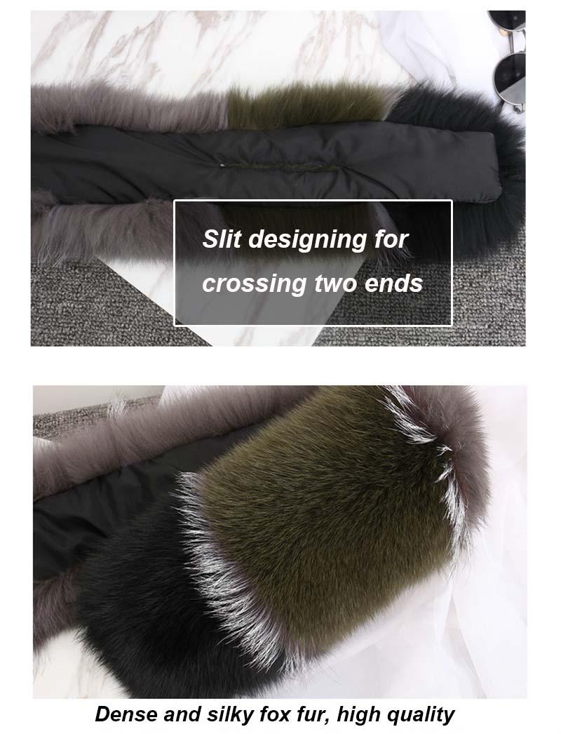 fox fur scarf  details