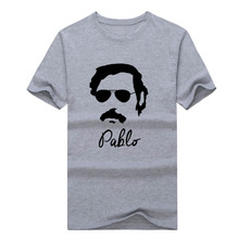 2017 Pablo Escobar Sunglasses famous narcos colombian gangster drugas T-shirt Men's T Shirt 1023-9