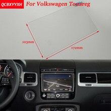 Автомобильный стикер 8 дюймов (103*172) gps навигационный экран Стальная Защитная пленка для Volkswagen Touareg управление ЖК-экраном автомобиля для укладки