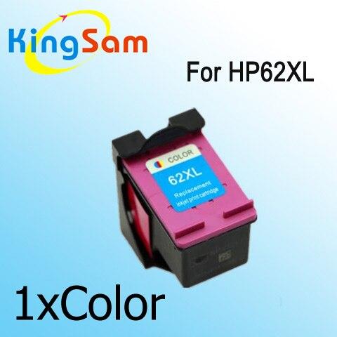 1x couleur cartouche d 39 encre compatible pour hp 62 62xl. Black Bedroom Furniture Sets. Home Design Ideas