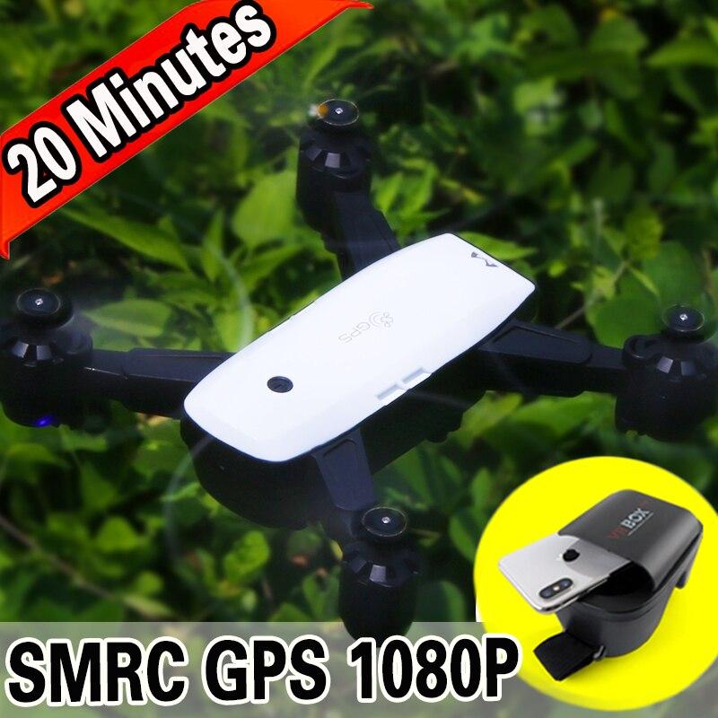 SUIVEZ-MOI FPV RC Drone Avec Vidéo En Direct 1080 p HD Caméra Photos Caractéristiques Double GPS Quadcopter 5MP pixel Retour la maison Pliable dron