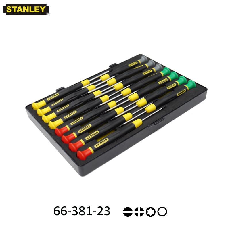 Stanley 15 pièces magnétiseur de précision micro tournevis électronique kit torx, hex, tri wing, p5 pentalobe, tournevis en forme de y etc