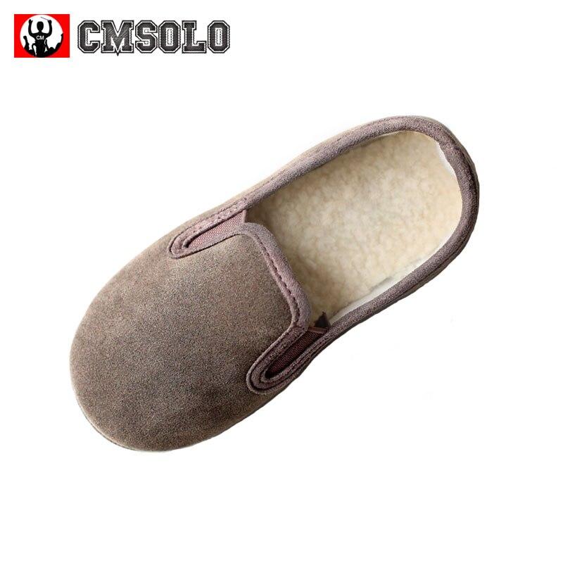 CMSOLO niños zapatos de Otoño de bebé Casual calzado niño vino rojo gris niños niñas de algodón de los niños invierno zapatos populares