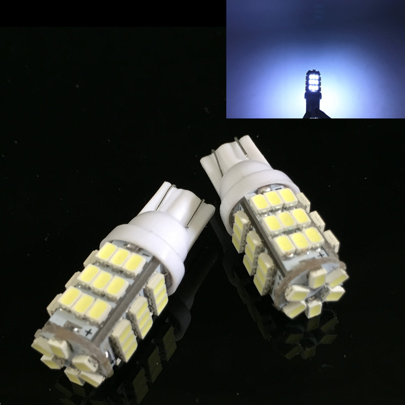CLEARANCE SALE!10pcs 42SMD WEDGE 3528 LED T10 W5W 42smd 42led car Interior Bulbs white Lamp Car Indicators Light High Quality DV