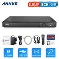 ANNKE 6.0MP 8-КАНАЛЬНЫЙ POE NVR Сетевой Видеорегистратор для Безопасности Сети ip-камера 1080 P/3MP/4MP/5MP/6MP, расширенный H.264 + Видео