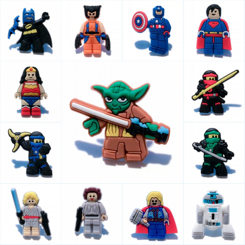 8pcs/lot Superhero Star Wars Mini Figures Cartoon Pvc Cool Blackboard Decoration Magnets Magnetic Stickers Kids Birthday Gift