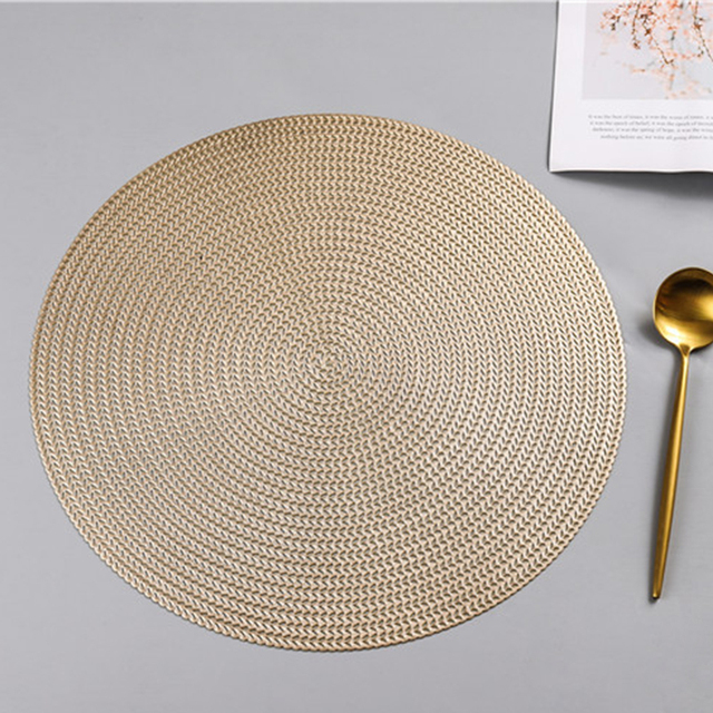 Round PVC Anti-scalding Insulation Placemat 5