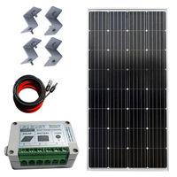Монокристаллический Солнечный комплект: 150 Вт моно солнечная панель и 12 В Солнечный контроллер заряда солнечной энергии система Солнечная