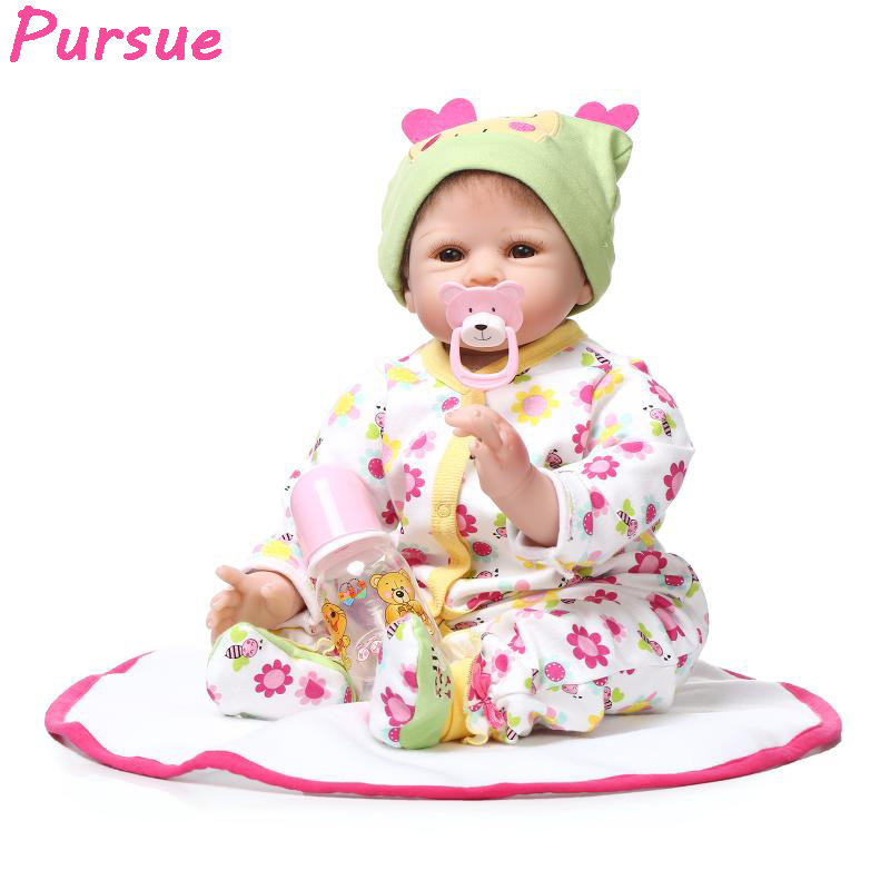 Pursue Reborn Babies American Girl Doll Silicone Baby Dolls for Sale Toys for Children bebe reborn menina de silicone menina 22 pursue blue eyes princess reborn 55cm silicone baby dolls adora doll for girls kids bebe reborn menina de silicone reborn babies