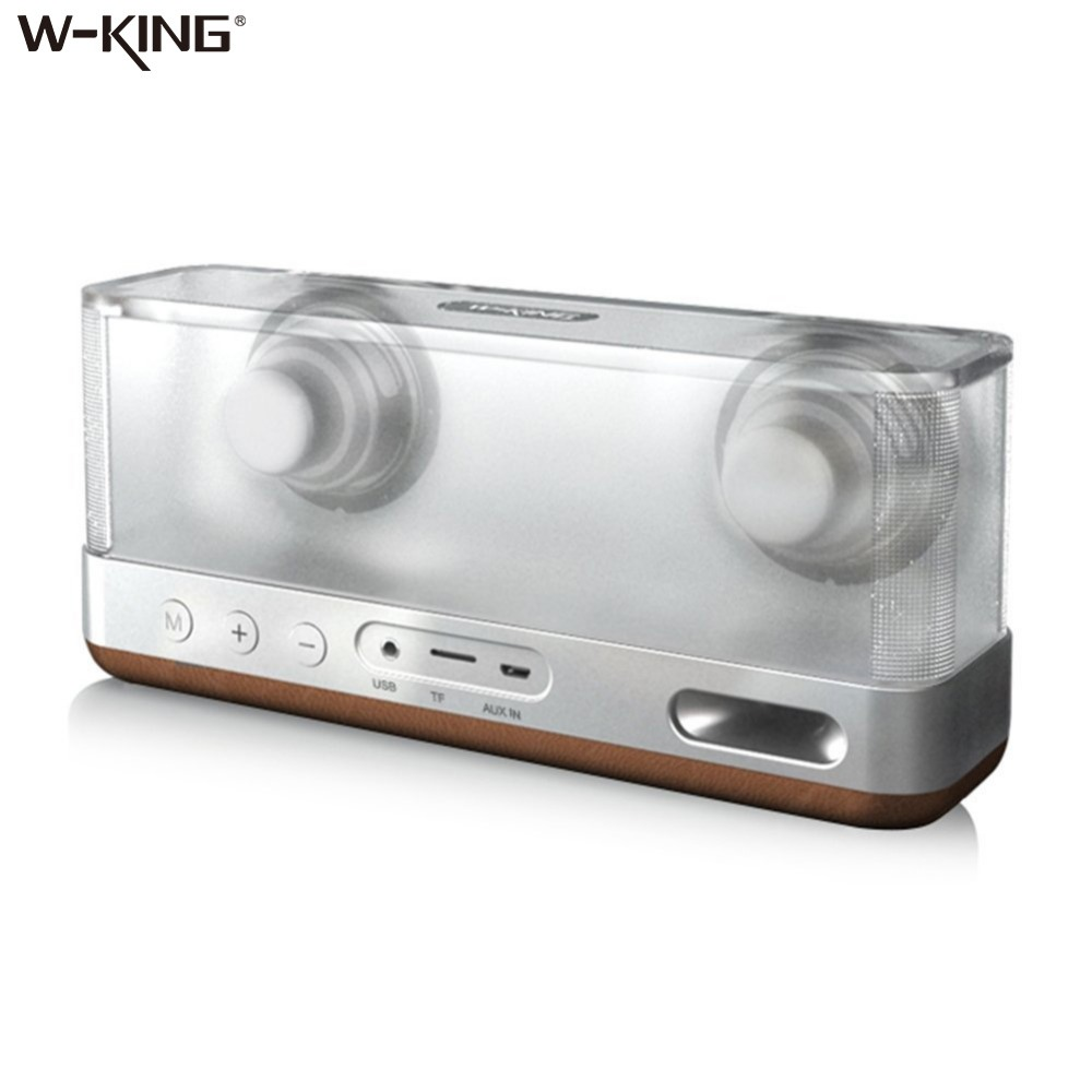 W-king Speakers Portable Bluetooth Speaker Transparent Home System Bluetooth Speaker 4.2 with TF 20W Portable Wireless Speaker t050 3w mini portable retractable stereo speaker w tf black golden 16gb max