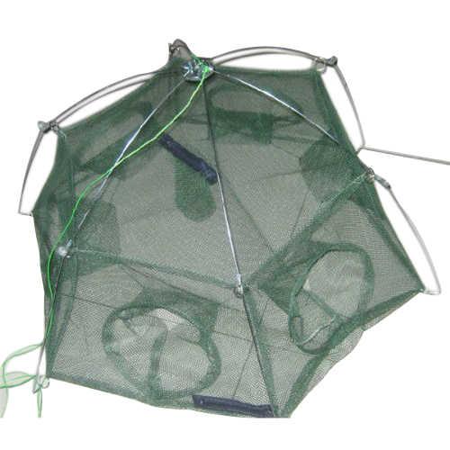 5 pack x (Bom negócio gaiola rede De Pesca de solha peixe lagosta camarão cesta de reposição 6 buracos Malha tamanho: 3mm