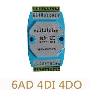 6AD/4DI/4DO Road 0-20mA Analog input 4 Road digital output Module MODBUS communication RS485 data acquisition isolation(China)