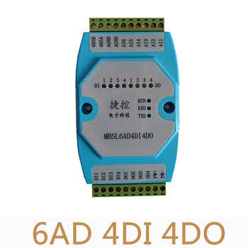 6AD/4DI/4DO Road 0-20mA Analog input 4 Road digital output Module MODBUS communication RS485 data acquisition isolation - DISCOUNT ITEM  10% OFF All Category