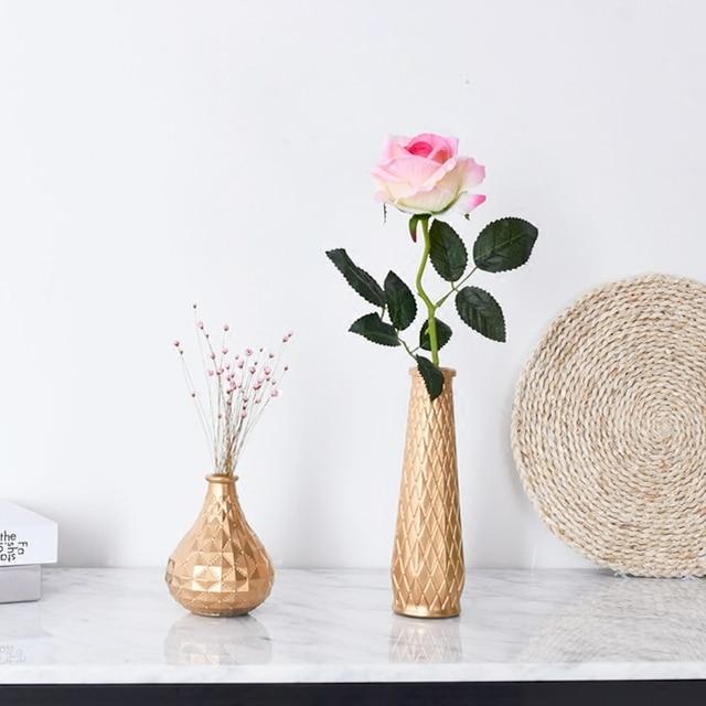 Modern Golden Mini Glass Vase Camila Home Decor