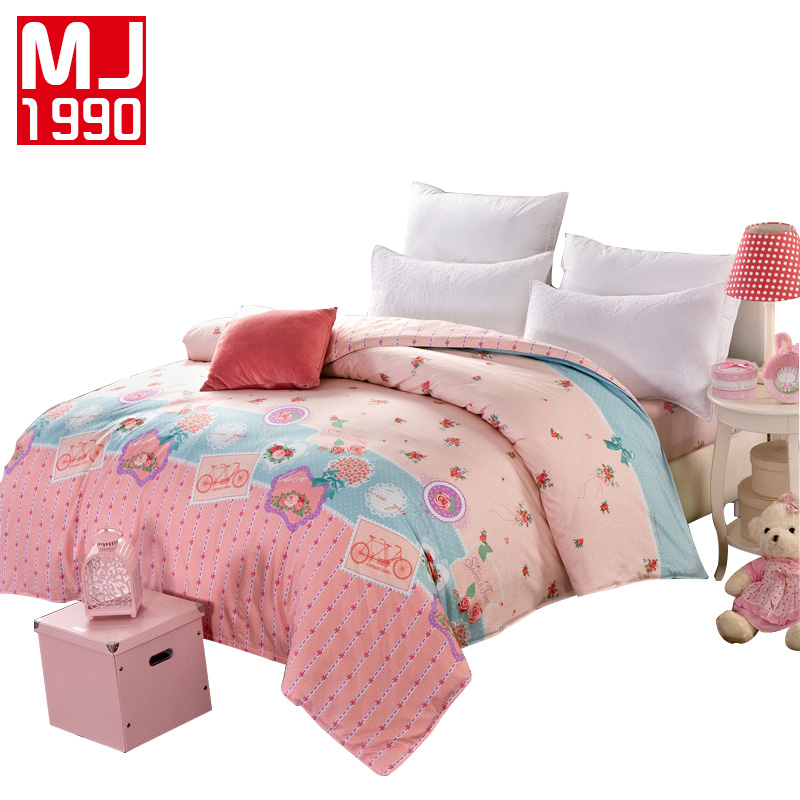 100% Cotton Duvet Cover Love Flowers Printing Quilt Covers Full Queen King Size Blanket Cover Soft Beding Home Textile