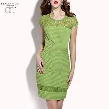 ElaCentelha Brand Dress Summer Women Lace Patchwork Hook Flower Hollow Out Dress Sleeveless Bandage Bodycon Women's Mini Dresses