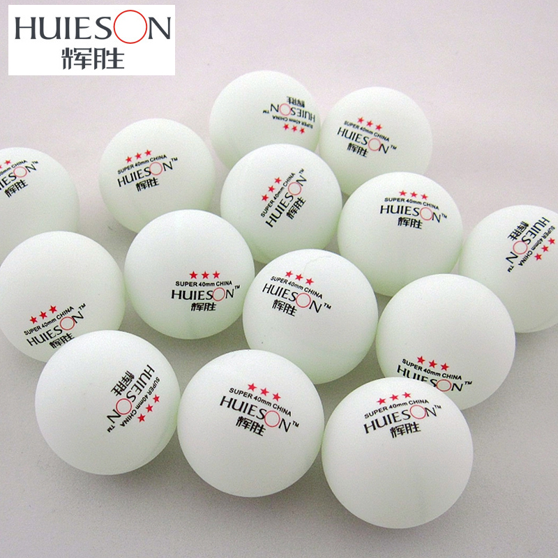 100pcs Huieson Exclusive 3 Star Table Tennis Balls 40mm 2.9g Ping Pong Ball White Yellow For School Club Table Tennis Training