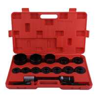 19pcs Set Hub Bearing Puller Master Hub Removal Installation Front Wheel Drive Bearing Puller Adapter Car