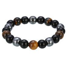 [FCY] explosion models hot jewelry fashion creative 10mm black iron stone tiger eye bracelet