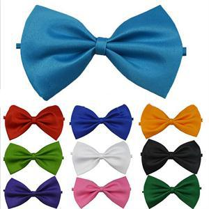 Classic Solid Color Imitation Silk Fashion Bowknot Adjustable Baby Men Tuxedo Bowtie For Wedding Evening Dinner Party Necktie