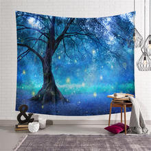 Forest Tapestry Wall Hanging Wall Carpet India Mandala Picnic Throw Rug Blanket Witchcraft Tablecloth Beach Towel Home Decor недорго, оригинальная цена
