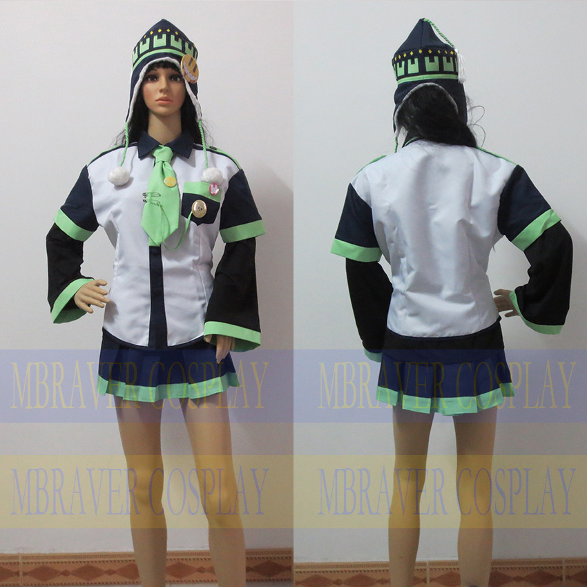 DMMD Cosplay Dramatical Murder Female Noiz Cosplay Costume Noiz Skirts For Girls Custom Made Any Size