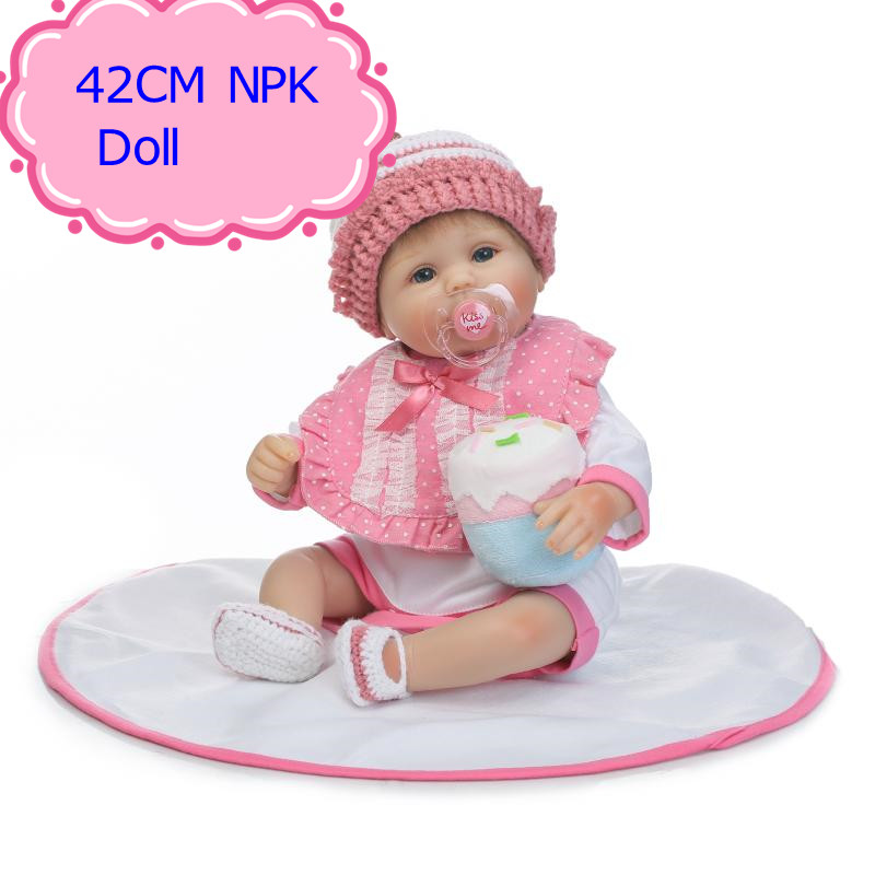 NPK Adora 42cm About 17inch Reborn Baby Doll Real Silicone Doll Kids Toys Girls Bebes De Silicona Smart Choice Birthday Gifts adora toddler doll soft silicone reborn baby doll cute 20 inch 52cm baby reborn for kids birthday giftbaby reborn