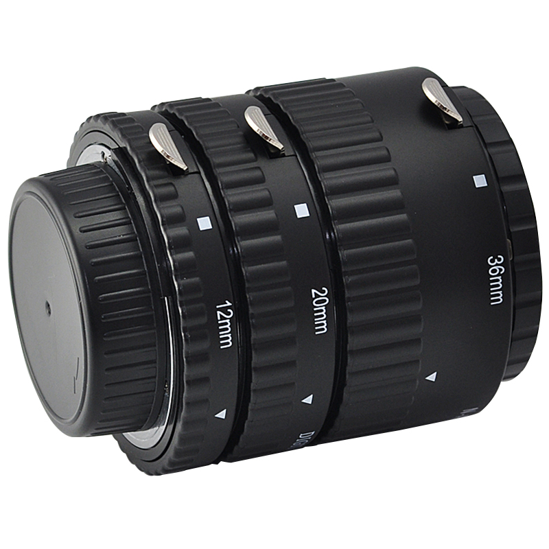Tube d'extension automatique en métal AF pour Nikon D850 D750 D610 D500 D810 D800 D7500 D7200 D7100 D7000 D90 DSLR - 2