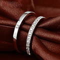 LIAMTING 2016 Wedding Jewelry  For Couple 925 Sterling Silver Pendant Jewelry Solid Silver Ring 2 Carat Sona CZ Engagement VB041