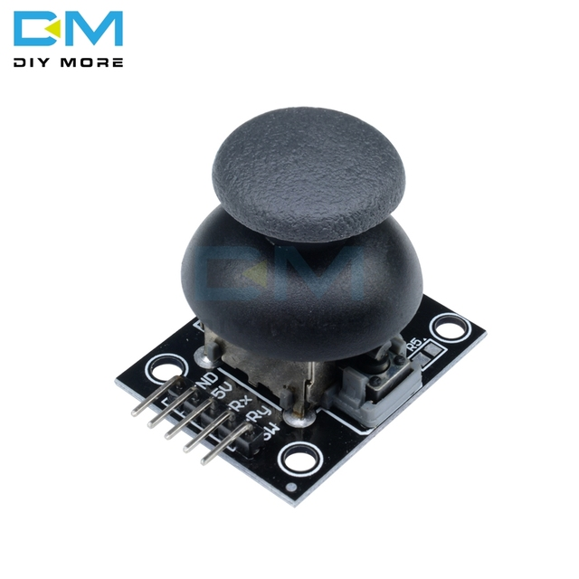 US $0 61 8% OFF|JoyStick 5Pin Breakout Module Shield For PS2 Joystick Game  Controller 2 54mm Pin Two way Rocker 10K Resistor For Arduino DIY KIT-in