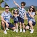 2017 Лето Семья Посмотрите Соответствующие Одежда Мать Дочь Отец Сына Камуфляж Набор Пара Clothing