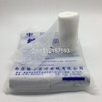10x Trattamento Medico Sgrassare Cotone Garza Elastica Bendaggio Nastro 8x600 cm un Rotolo