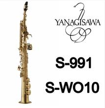 New Arrival Soprano B(B) Saxophone YANAGISAWA S-991 S-WO10 Gold Plated B Flat Brass Instrument Sax With Mouthpiece Free Shipping