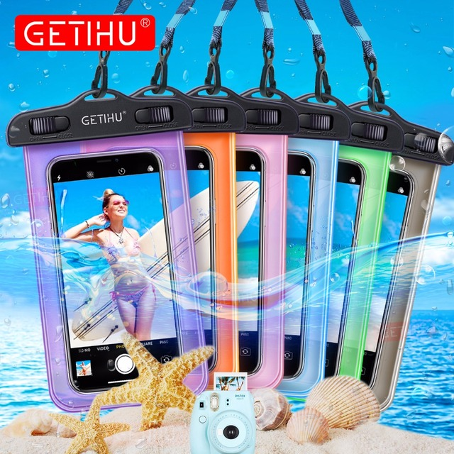 GETIHU Universal Waterproof Bag Pouch Phone Case For iPhone X 8 7 6 5 Samsung S8 Note 8 Huawei P10 Xiaomi Redmi Water Proof Case 1