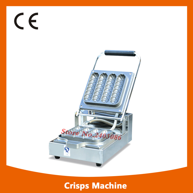 KW-E7A stainless steel french hot dog waffle machine Corn Crisp Maker for snack equipment casual weaving design card holder handbag hasp wallet for women