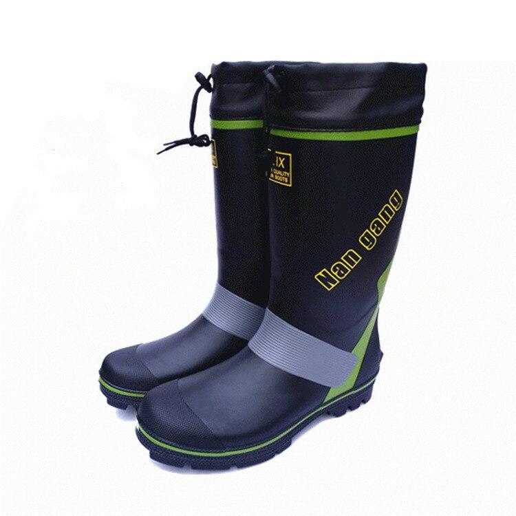 winter Waterproof Men s Boots Rain Boots Rubber Non - Slip Fishing Shoes Rock Fishing Waders Shoes Rubber Shoes