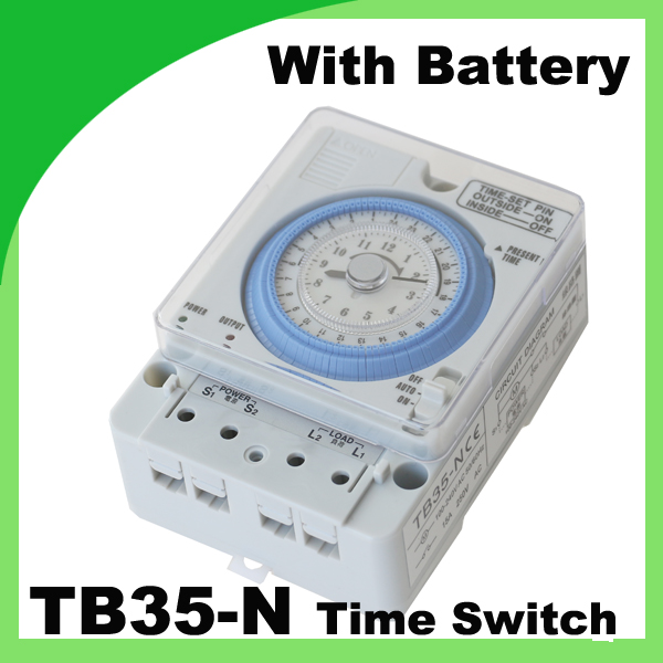 TB-35 / TB35-N AC110V-220V 10A mechanical timer Manual /Auto Control Timing Range 24h time switch with Battery ножницы для живой изгороди 10 truper tb 17 31476