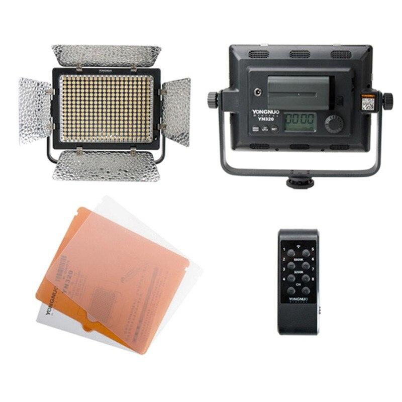 YONGNUO YN320 3200K-5500K Bi-color Temperature Photo Studio LED Panel Video Light LED Light for Canon Nikon DSLR Camera цена