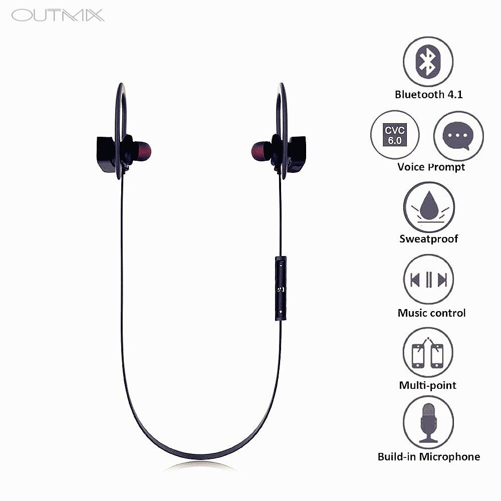 Bluetooth Earphone Wireless Headphone waterproof headset in ear Neckband sport earphone with mic earbus For All Phone computer in Bluetooth Earphones Headphones from Consumer Electronics
