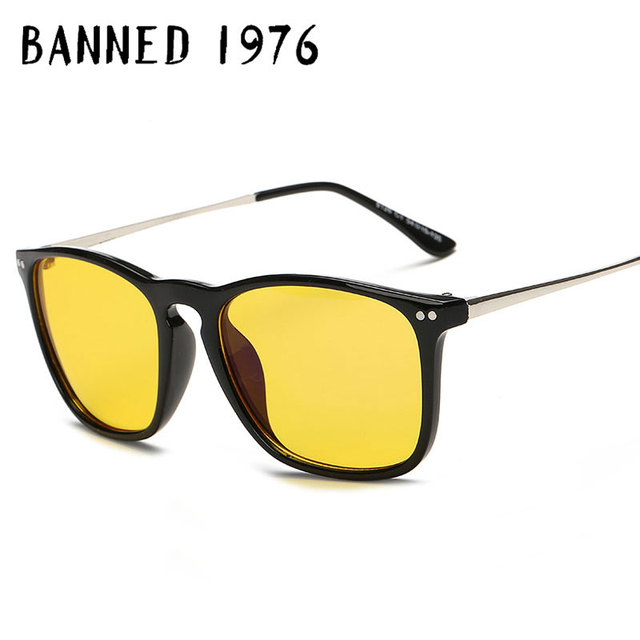 2b5bb9406d BANNED 1976 Radiation protection Computer Optical Eye Glasses Spectacle  Frame For Transparent Lens Retro Brand Eyeglasses