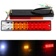 купить 1 Pair Bright 20 LED Car Rear Tail Lights Stop Light Reverse Lamp for 12V 24V Truck Trailer Forklift Caravan дешево