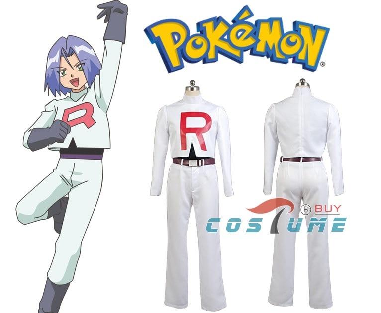 Pokemon Team Rocket Kojirou kojiro Cosplay Costume For Men Anime Halloween Costume pokemon team rocket jessie women white uniform dresses club party cosplay costume