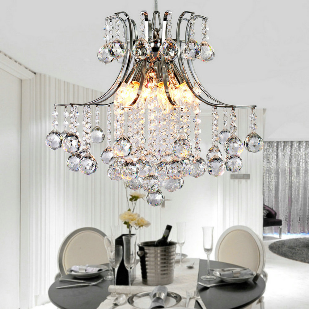 Crystal Chandelier Quality Types: MAMEI Free Shipping Modern 6 Lights Dia 20 Inch Chrome