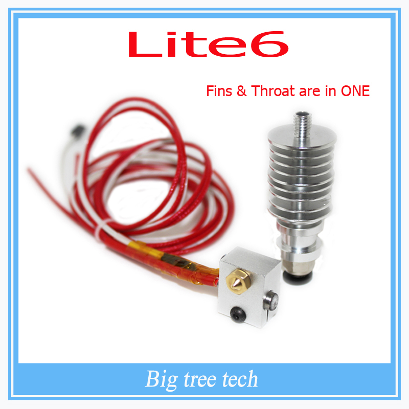 3d printer Lite6 Full Kit - 1.75mm Universal (Direct) (12v) extruder 0.2/0.3/0.4/0.5 nozzle