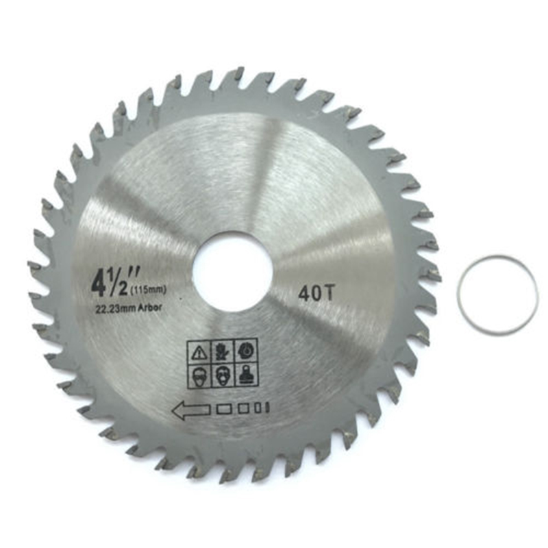 115mm 40 TCT Teeth Angle Grinder Circular Saw Leave For Cutting Wood Plastic 12 72 teeth 300mm carbide tipped saw blade with silencer holes for cutting melamine faced chipboard free shipping g teeth