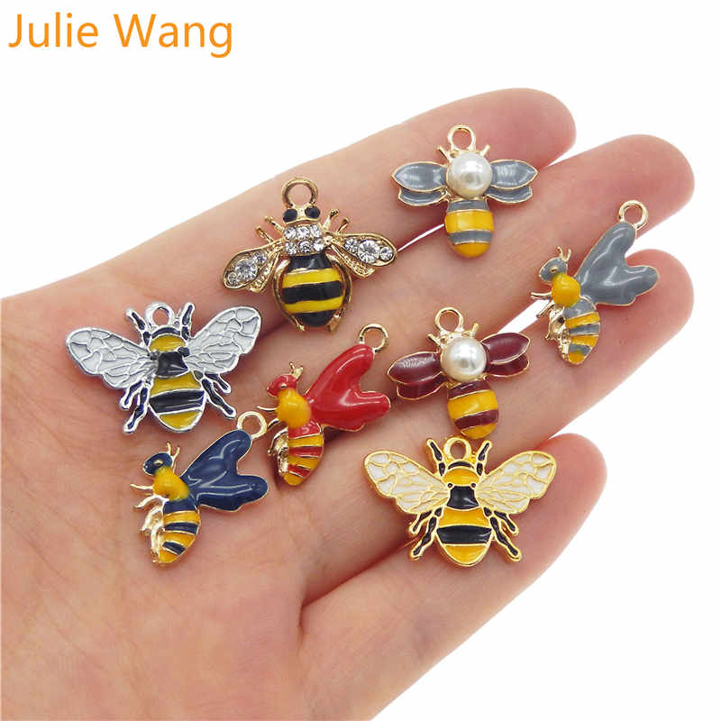 12pcs Antique Bronze Alloy Cute Bee Shaped Charms Pendant Jewelry Findings