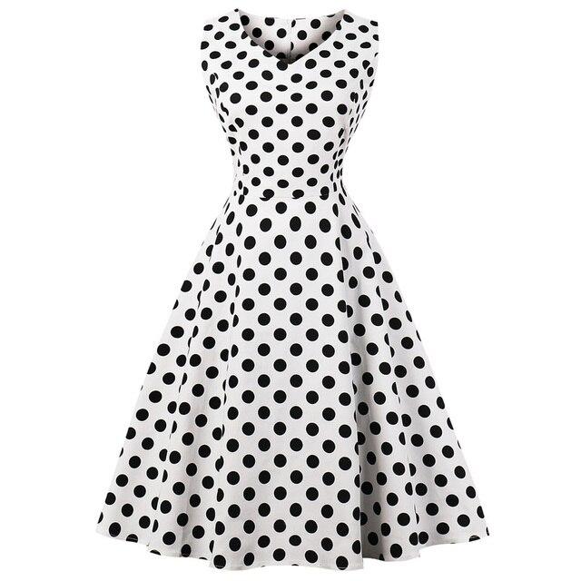 Wipalo Одри Хепберн Винтаж платье плюс Размеры 4XL в горошек Женское вечернее платье элегантный качели рокабилли Feminino Vestidos